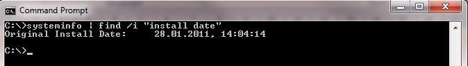 Как узнать дату и время установки операционной системы?